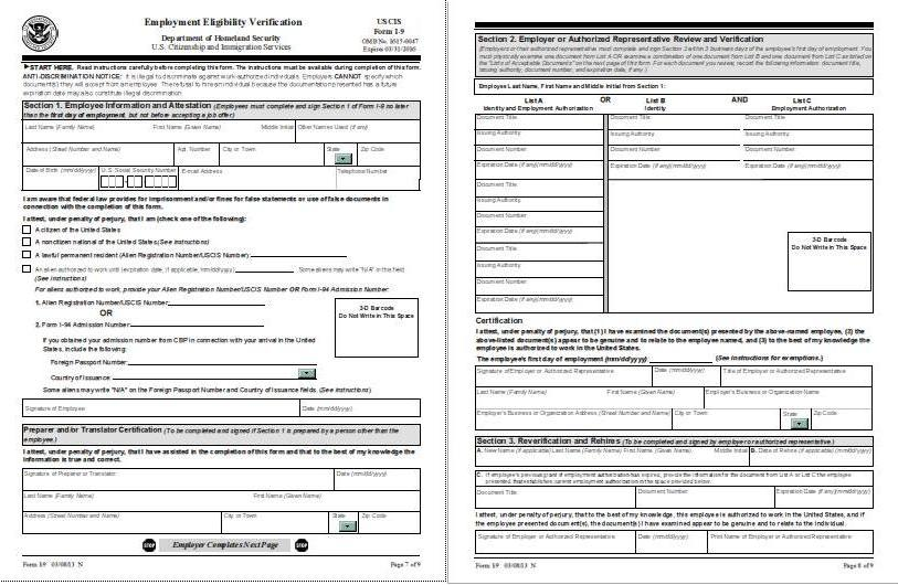New Two-Page I-9 Form to Become Effective on March 8, 2013 ...